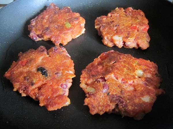 Vegan Gluten-free Kidney Bean Burgers Fritters