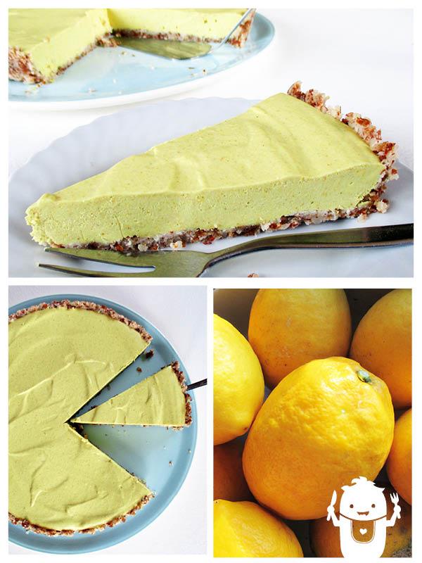 Vegan Gluten-free Raw Lemon Tart