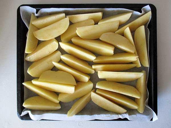 Vegan Spicy Potato Wedges with Aioli