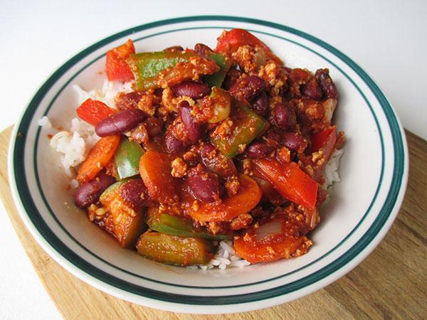 Vegan Gluten-free Chili Con Tofu