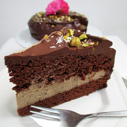 Decadent Chocolate Mocha Cake (Vegan, Gluten-free, No Refined Sugar)