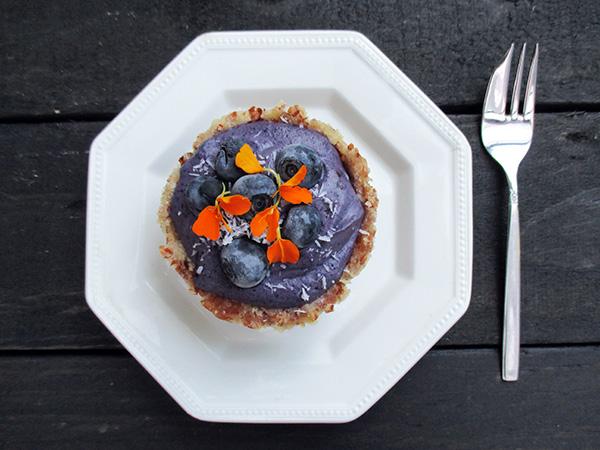 Vegan Gluten-free Raw Mini Blueberry Cakes
