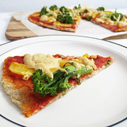 Capsicum Broccoli Pizza, with yeast-free crust