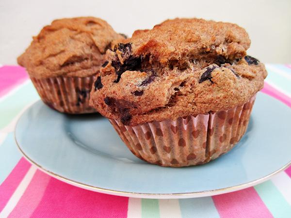 Vegan Gluten-free Dairy-Free Egg-Free Blueberry Banana Muffins