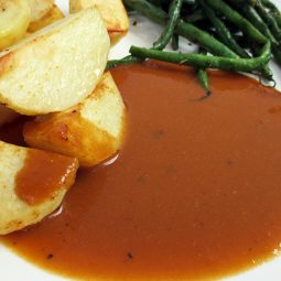Brown Onion Gravy (Vegan, Gluten-free)
