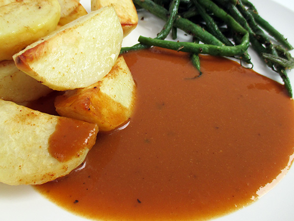 Vegan Gluten-free Brown Onion Gravy Sauce