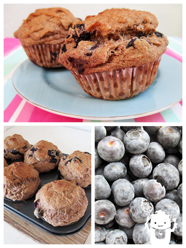Vegan Gluten-free Blueberry Banana Muffins