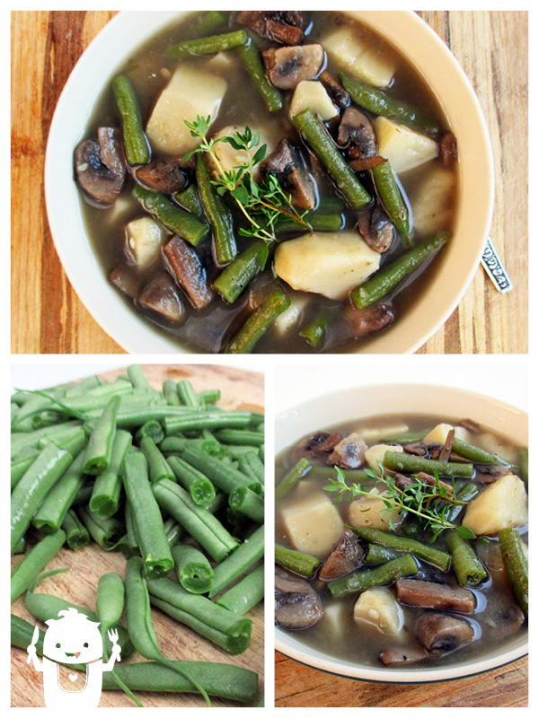 Vegan Gluten-free Bean Mushroom Soup