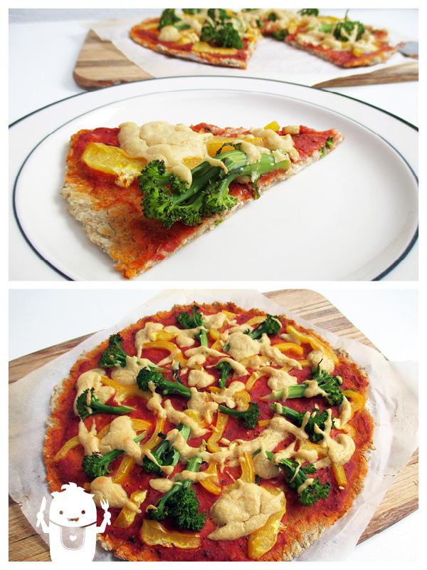 Vegan Gluten-free Capsicum Broccoli Pizza