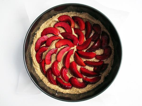 Vegan Gluten-free Plum Walnut Cake
