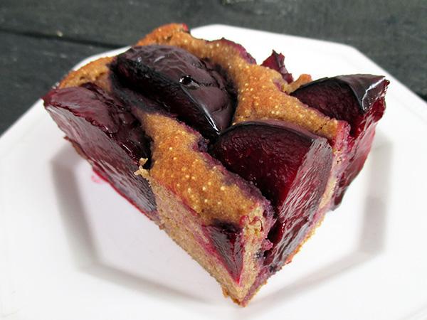 vegan gluten-free nut-free plum slice