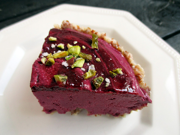 Raw No-Bake Vegan Gluten-free Plum Fig Tart