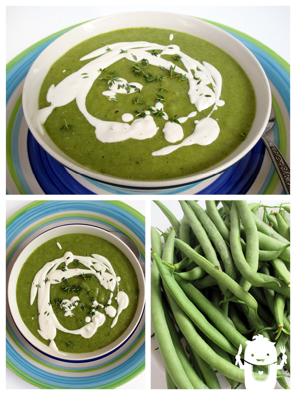 Green Bean Soup with Sour Cashew Cream | The Vegan Monster