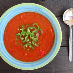 'Gegrillte' Paprika Suppe (Vegan)