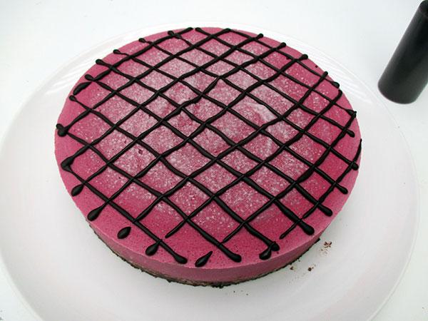 Vegan Gluten-Free Nut-Free No-Bake Raspberry Chocolate Cake