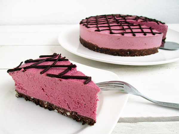 Vegan Gluten-Free Nut-Free No-Bake Raspberry Chocolate Cake