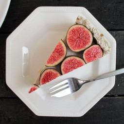 No-Bake Vanilla Fig Tart (Vegan, Gluten-free, Nut-Free)