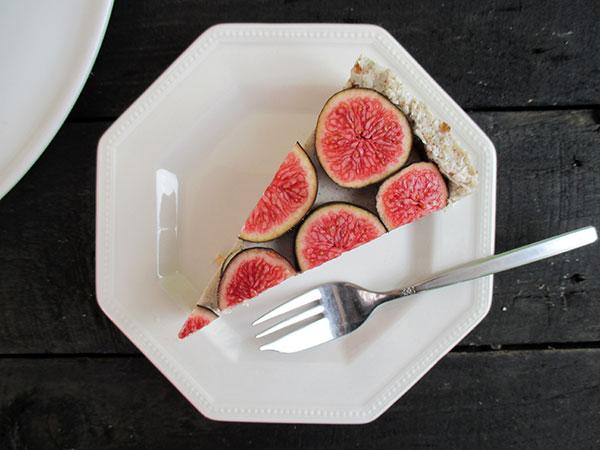 No-Bake Vegan Gluten-free Nut-Free Soy-Free Vanilla Fig Tart