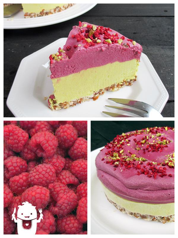 Vegan Gluten-free No-Bake Raw Lemon Raspberry Cake