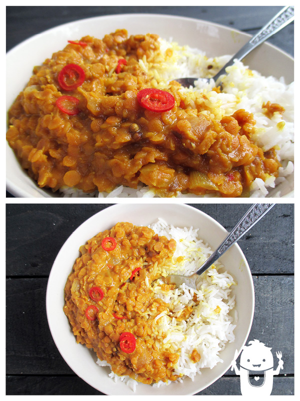 Vegan Gluten-free Spicy Lentil Dal