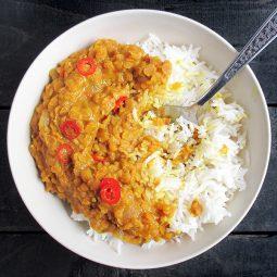 Spicy Lentil Dal (Vegan, Gluten-free)