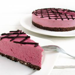 No-Bake Raspberry Chocolate Cake (Vegan, Gluten-Free, Nut-Free, Soy-Free)