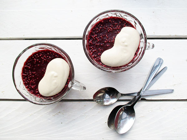 Vegan Gluten-free Dairy-free Egg-free Raw Berry Chia Gelly Rote Grutze