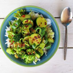 Easy Green Vege Curry (Vegan, Gluten-free)