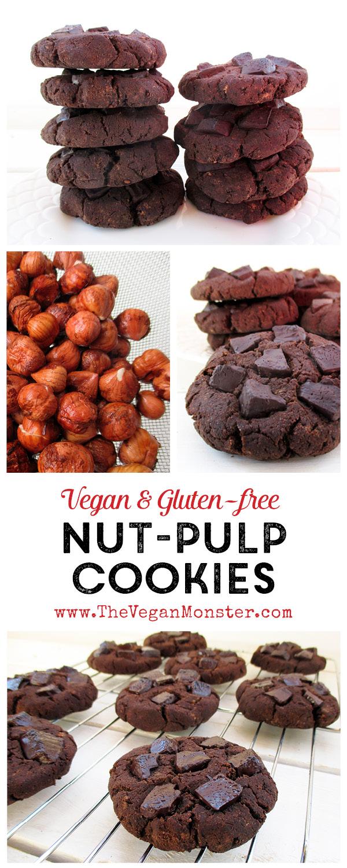 Vegan Gluten-free Egg-free Dairy-free Nut-Pulp Chocolate Cookies