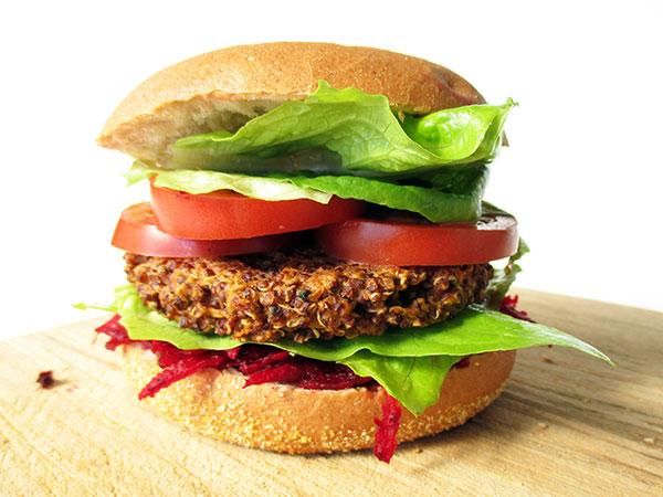 Vegan Vegetarian Gluten-free Quinoa Burger