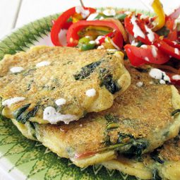 Spinach Potato Fritters (Vegan, Gluten-free, Nut-free)