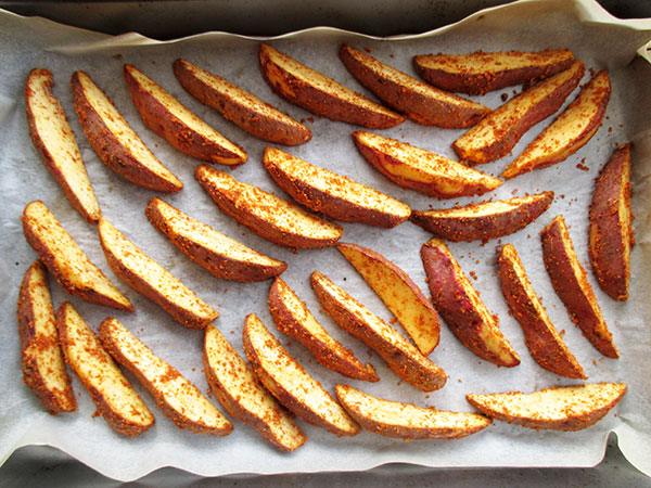Vegan Gluten-free Oil-free Crispy Sweet Potato Kumara Wedges