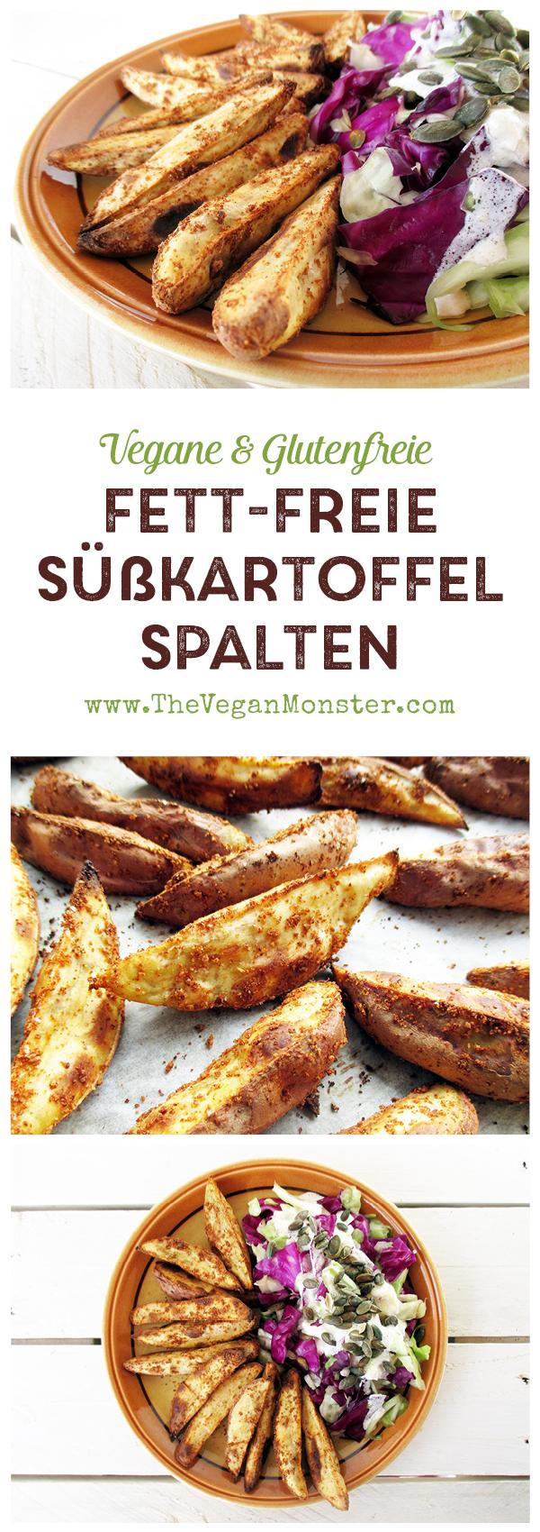 Vegan Gluten-free Oil-free Crispy Sweet Potato Kumara Wedges