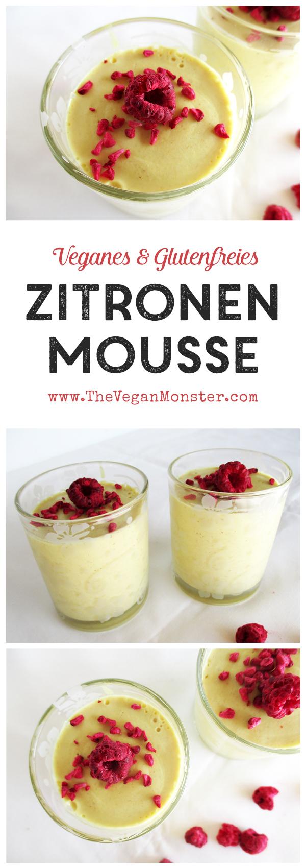 Veganes Glutenfreies Milchfreies Zitronen Kokos Mousse