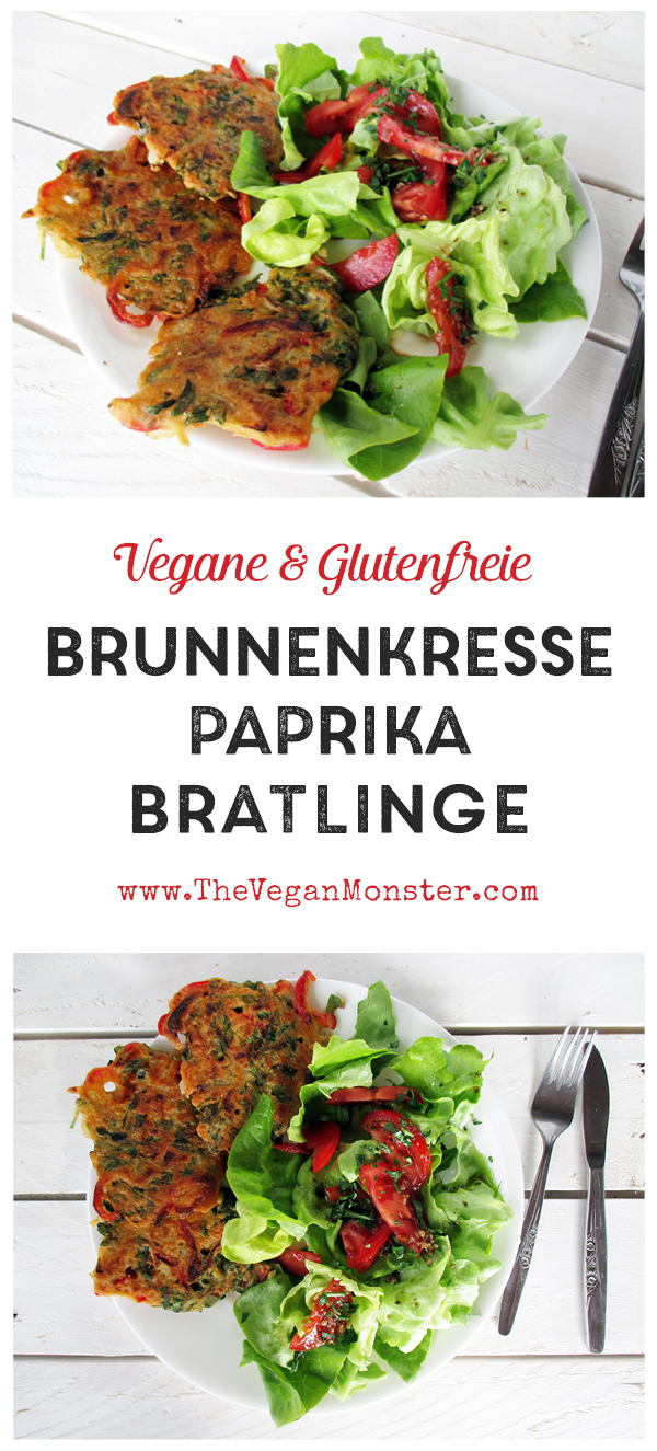 Vegane Glutenfreie Eifreie Fleischfreie Milchfreie Brunnenkresse Paprika Bratlinge