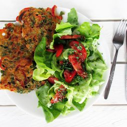 Brunnenkresse Paprika Bratlinge (Vegan, Glutenfrei)