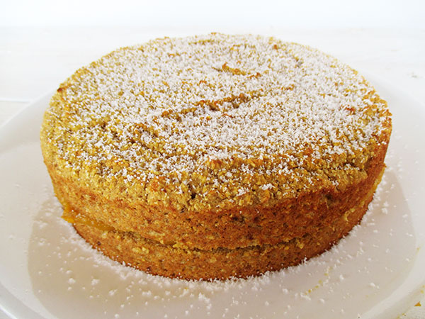 Vegan Gluten-free Oil-free Low-fat Egg-free Dairy-free Polenta Pumpkin Lemon Cake
