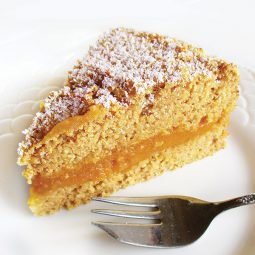 Lemon Pumpkin Polenta Cake (Vegan, Gluten-free, Oil-free, Low-Fat)