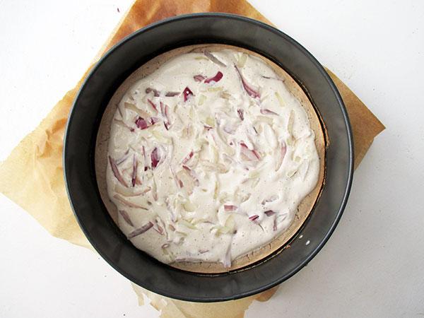 Vegan Gluten-free Yeast-free Tarte Flambée Flammkuchen