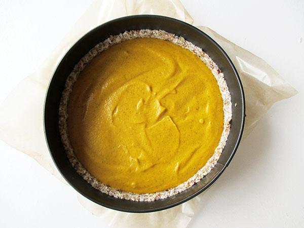 Vegan Gluten-free Nut-free No-Bake Pumpkin Spice Pie Tart
