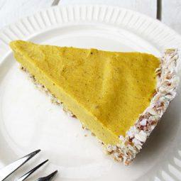 Nix-Backen Kürbis Kuchen (Vegan, Glutenfrei, ohne Nüsse, ohne Soja)
