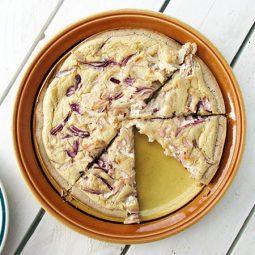 Tarte Flambée (Vegan, Gluten-free, Yeast-free)