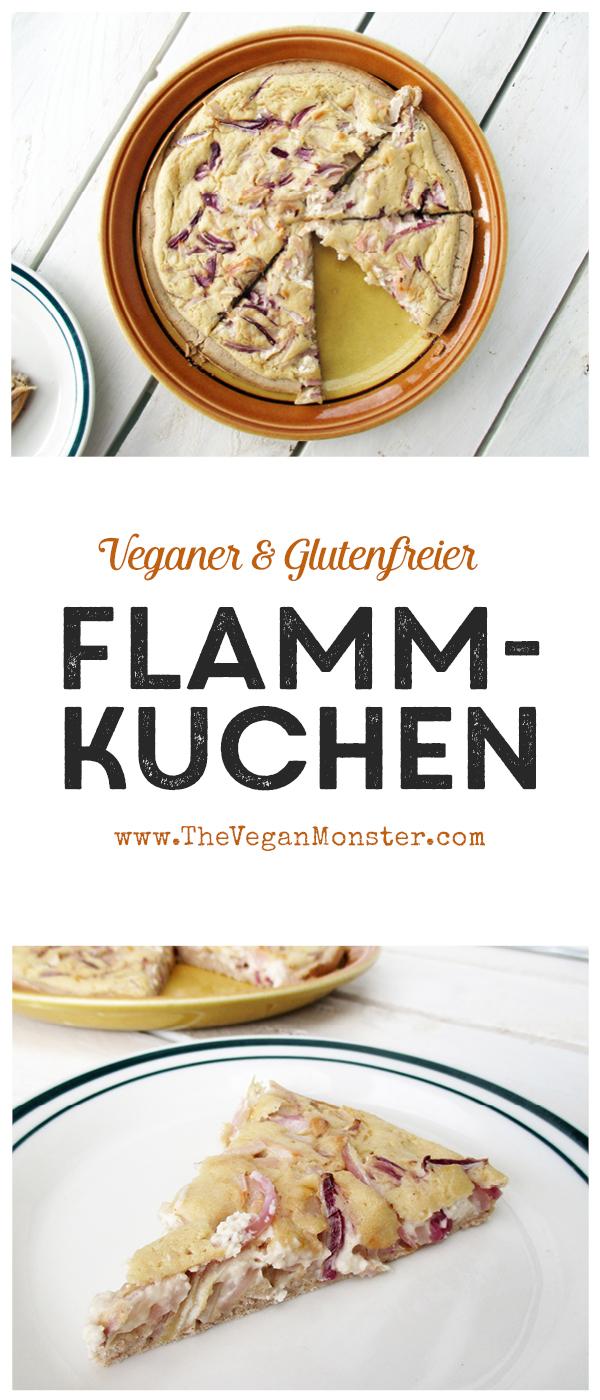 Veganer Glutenfreier Flammkuchen ohne Hefe