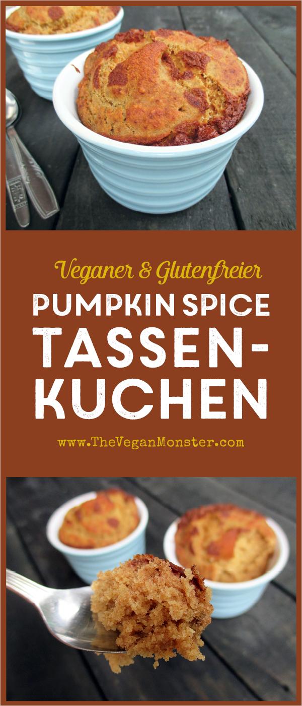 Veganer Glutenfreier Low-Fat Pumpkin Spice Tassenkuchen