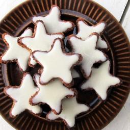 German Cinnamon Star Cookies (Vegan, Gluten-free)