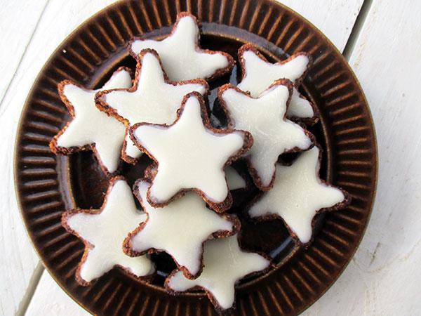German Cinnamon Star Cookies Vegan Gluten Free The Vegan Monster