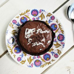 Chocolate Custard Tartlets (Vegan, Gluten-free)