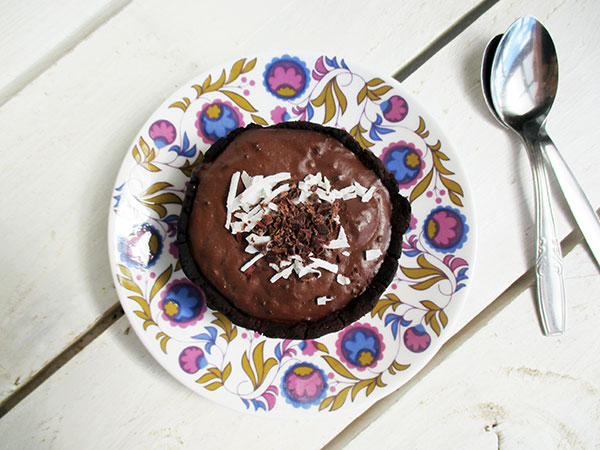 Vegan Gluten-free Dairy-free Chocolate Custard Tartlets