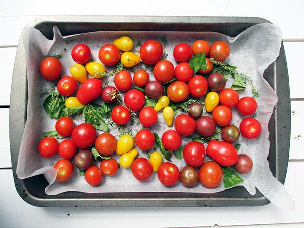 Vegane Glutenfreie Low-fat Geröstete Kirschtomaten Suppe & Pasta Soße Rezept
