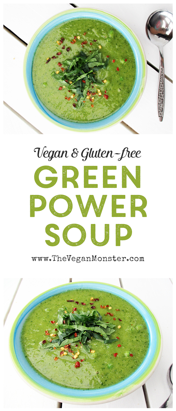 Vegan Gluten-free Green Power Soup